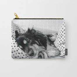 Jamie relaxing Carry-All Pouch