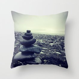 Cairns in Iceland Throw Pillow