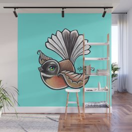Fantail - Aqua Wall Mural