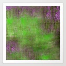 Green Color Fog Art Print