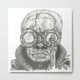 Birth Machine Baby (Giger influenced) Metal Print