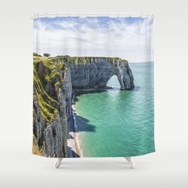 The cliffs of Etretat Shower Curtain