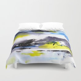 Watercolor Abstract Horizons Duvet Cover