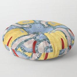 Premium Mandala Ornament (Golden Marble) Floor Pillow