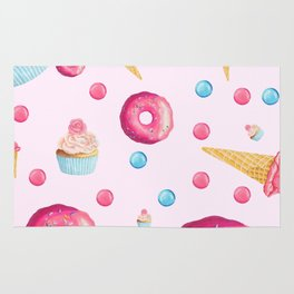 Sugar Sweet Tooth Pink Rug