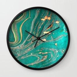 Ocean Gold Wall Clock