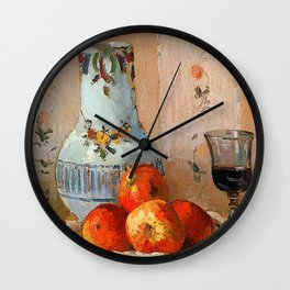Pissarro - Apples & Pitcher (Detail) Wall Clock
