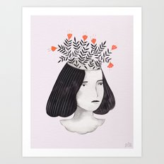 Flower Head II Art Print