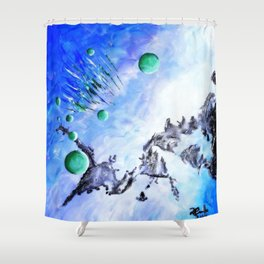 Retract Shower Curtain