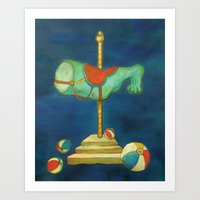 carnival Art Prints featuring carnival by colorlabo