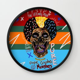 Dope Creates Monsters Ultimate Wall Clock