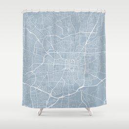 Greensboro Map, USA - Slate Shower Curtain