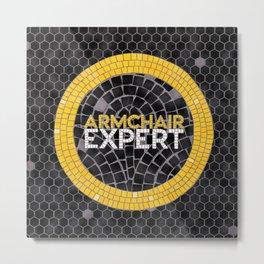 Armchair Expert Fauxsaic Metal Print