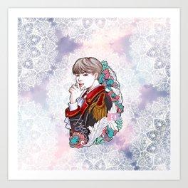 BTS JIMIN, King JIMIN, Kings of KPOP, Love Yourself, Boy With Luv Art Print