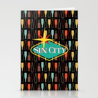 sin city Stationery Cards featuring Sin City by Chelsea Dianne Lott