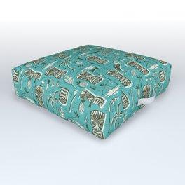 Tropical Tiki - Aqua Outdoor Floor Cushion