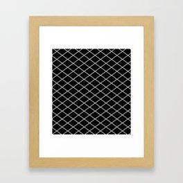 Diamond Lines - Silver Framed Art Print