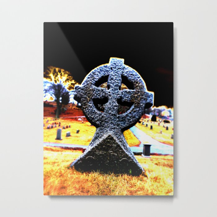 Celtic Cross Grave Metal Print