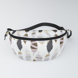 Gold Tipped Feathers Fanny Pack