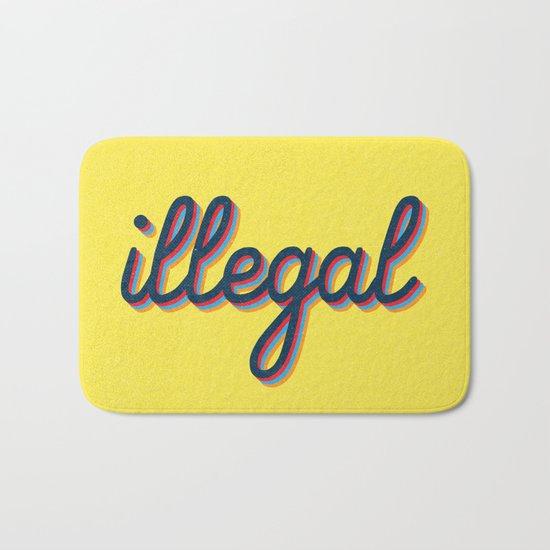 Illegal - yellow version Bath Mat