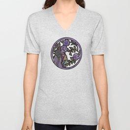 Flower Goddess Moody Purple Unisex V-Neck
