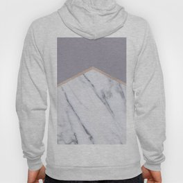 Smokey lilac - rose gold geometric marble Hoody