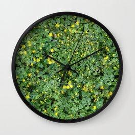 Clover Field Wall Clock