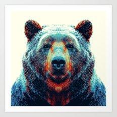 Bear - Colorful Animals Art Print