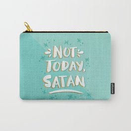 Not Today, Satan – Mint & Gold Palette Carry-All Pouch