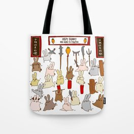 Every bunny was kung fu fighting Tote Bag