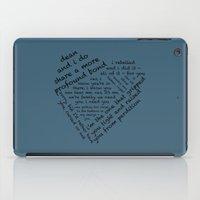destiel iPad Cases featuring Quotes of the Heart - Destiel (Black) by fairy911911