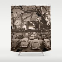nightmare Shower Curtains featuring Nightmare by Kiki collagist