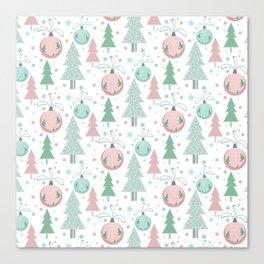 Christmas white pattern Canvas Print