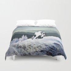 Winter Mountains Duvet Cover