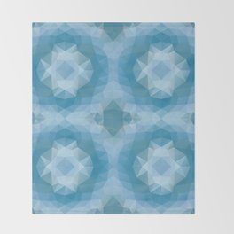 Mozaic design in soft blue colors Throw Blanket