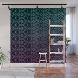 chain link - blue and purple mandala pattern Wall Mural