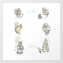 Beatrix Potter Books Art Print