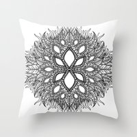 plant Throw Pillows featuring plant by Ichsjah