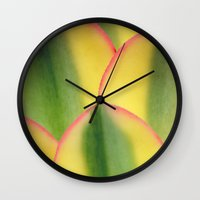 stained glass Wall Clocks featuring Stained Glass by Irina Wardas