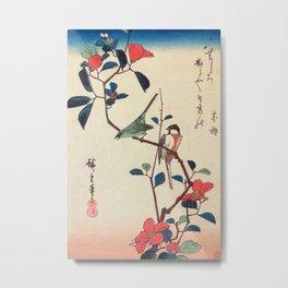 Camellia Branch Metal Print