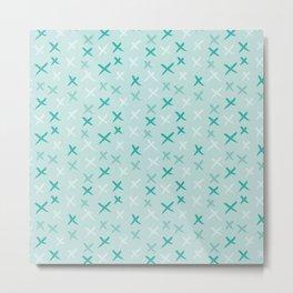 X Pattern - Mixed Mint Metal Print