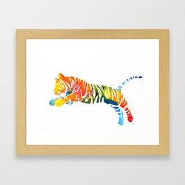 Pouncing Tiger Framed Art Print