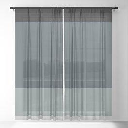 Contemporary Color Block IX Sheer Curtain