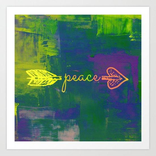 Peace Arrow  Art Print