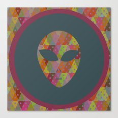 retro pattern and alien 4 Canvas Print
