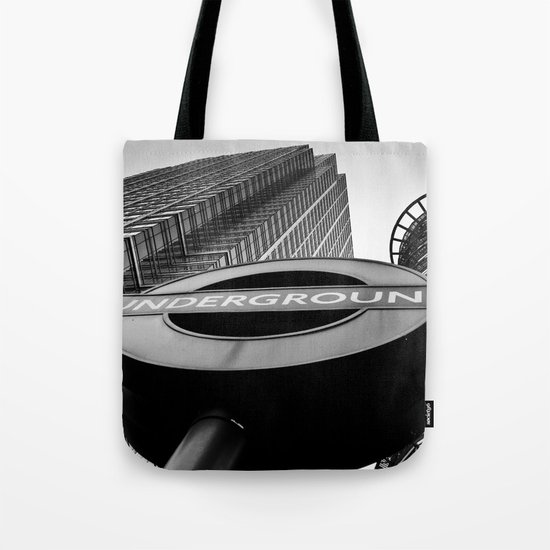 Canary Wharf  Underground Tote Bag
