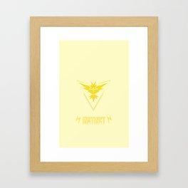 Team Instinct Logo PokemonGO Framed Art Print