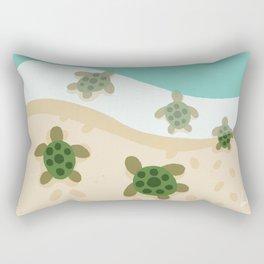 Baby Turtles Rectangular Pillow