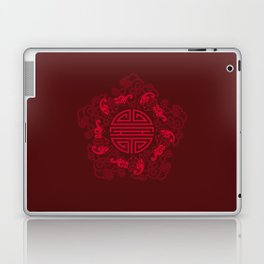 Five Bats with Shou and Clouds Laptop & iPad Skin