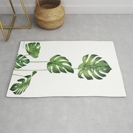 Monstera Watercolor  Rug